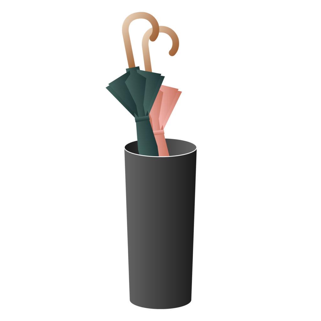 信楽焼など陶器の傘立て
